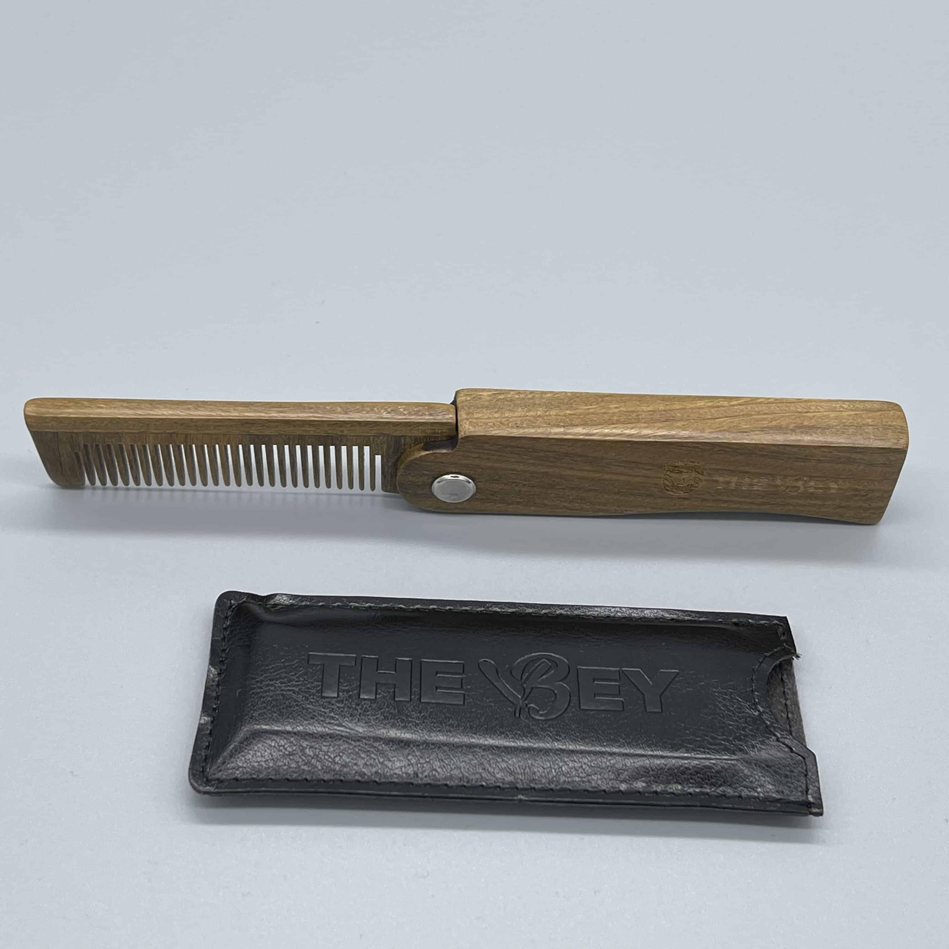Peine plegable madera sándalo